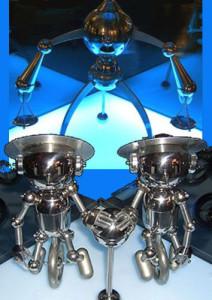 金属立体てんびん双子